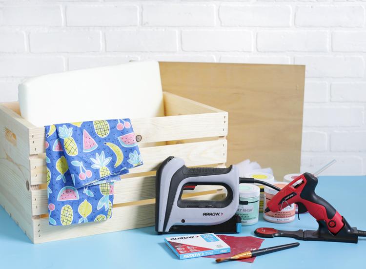 wood crate storage seat tutorial