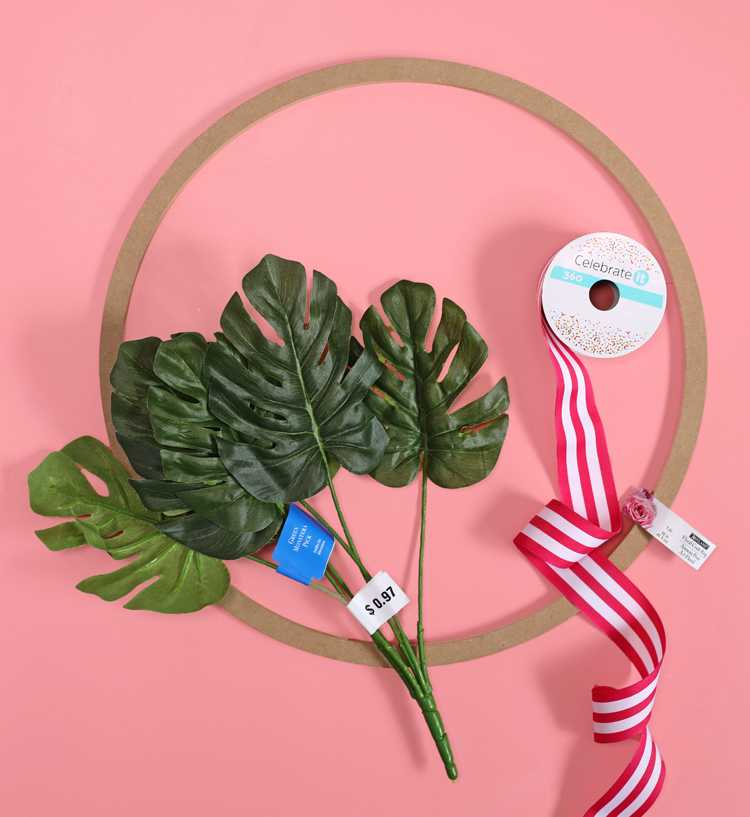 diy monstera leaf wreath supplies needed