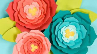 Giant Paper Flowers with Pointy Petals