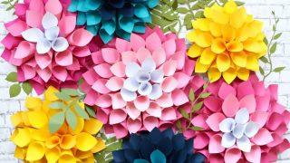 Giant Dahlia Paper Flowers