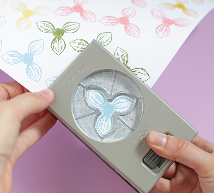 paper flower punch from stampin up