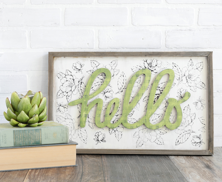 stamped farmhouse diy sign