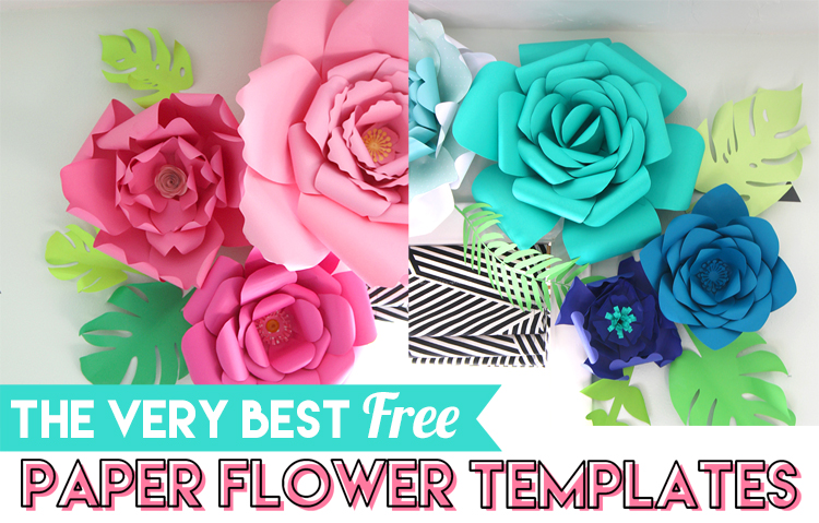 photograph about Free Printable Paper Flower Templates named Excellent Cost-free Paper Flower Templates -