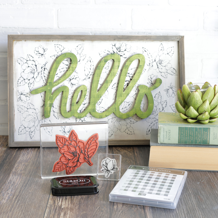 how to use rubber craft stamps on wood