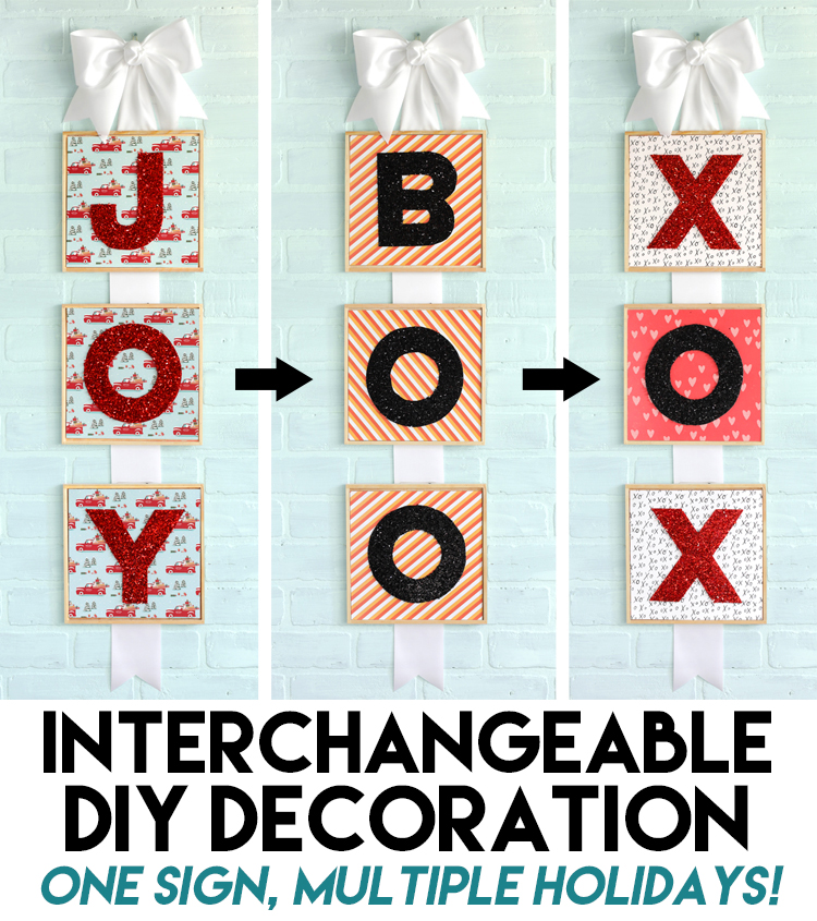 interchangeable diy decoration for different holidays