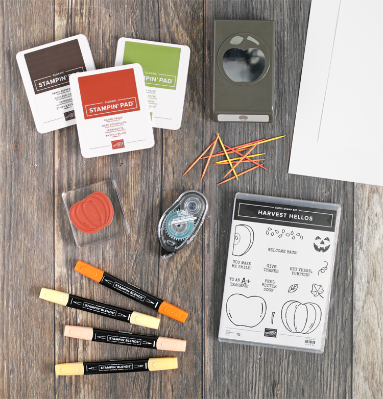 stampin up harvest hellos project idea