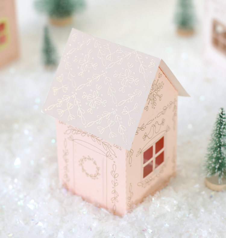 paper christmas village diy