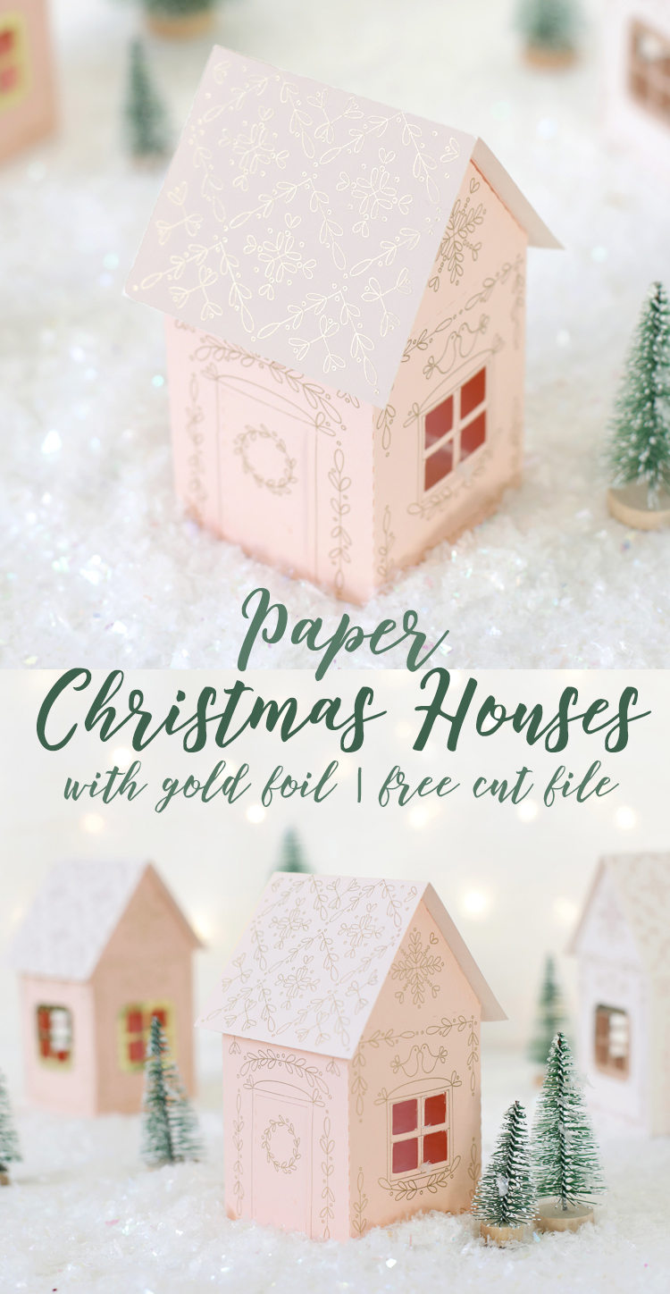 diy paper christmas houses free cut file