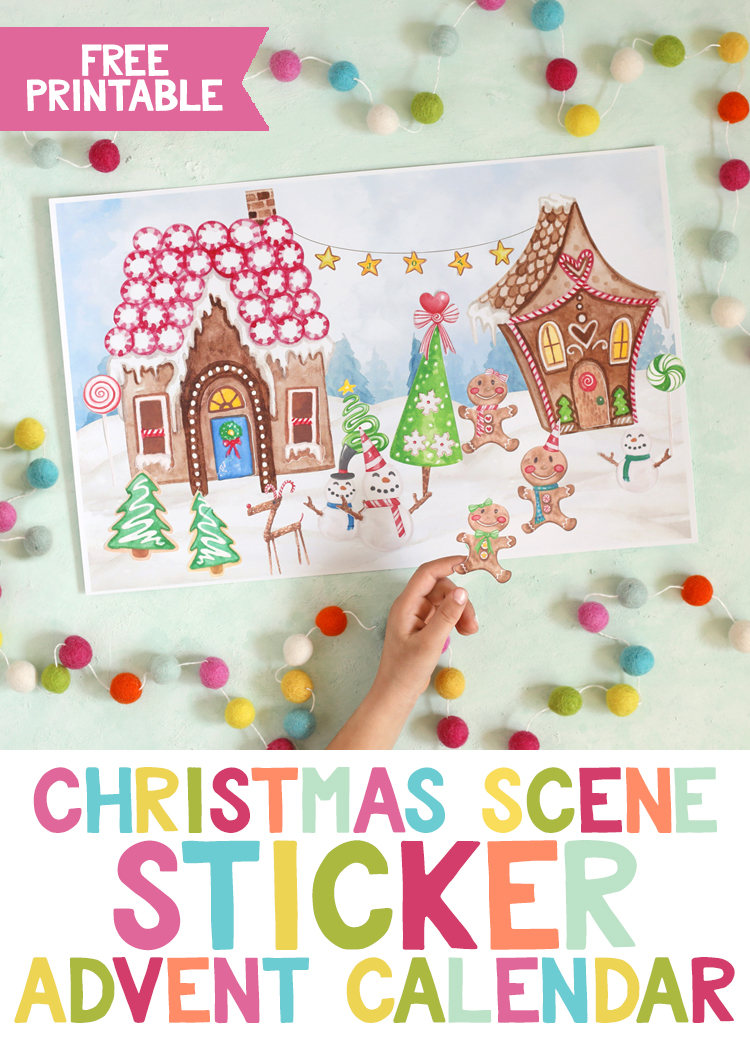 sticker christmas advent calendar