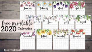Bold Floral Print Calendar