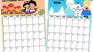 FREE Princess Calendar 2019-2020