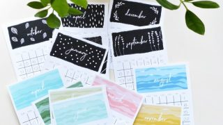 Watercolor Desk Calendars