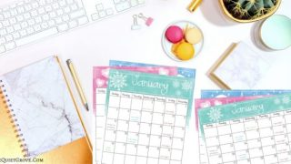 Watercolor Design Calendar