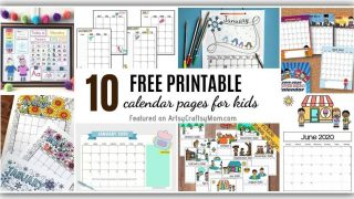 Calendar Pages for Kids