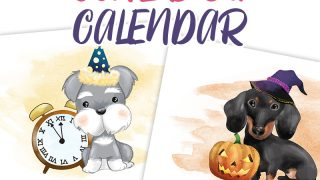 Free Printable 2020 Cute Dog Calendar