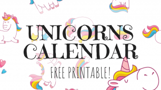 Cute Unicorns Calendar