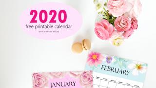 Realistic Florals Calendar