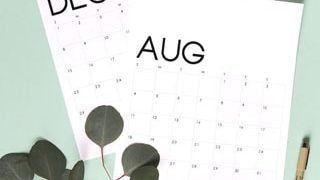 Modern Minimal Calendar