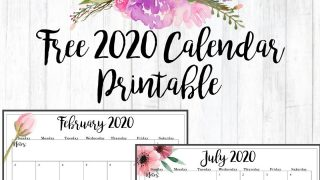 Floral Accent 2020 Calendar