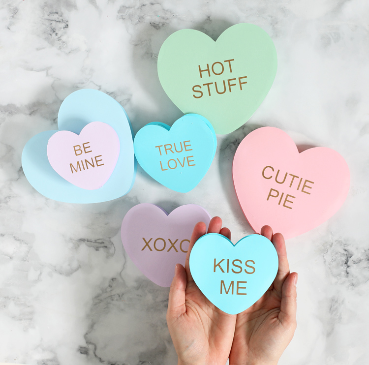 conversation heart valentines day craft
