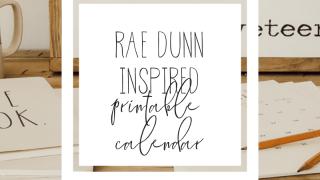 Rae Dunn Inspired Calendar