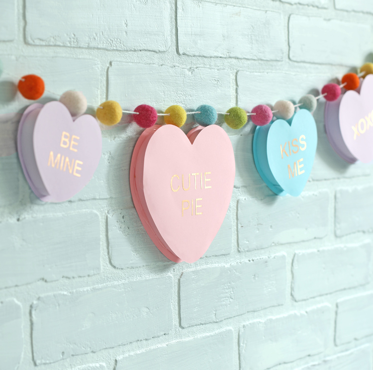 diy valentines day paper heart garland