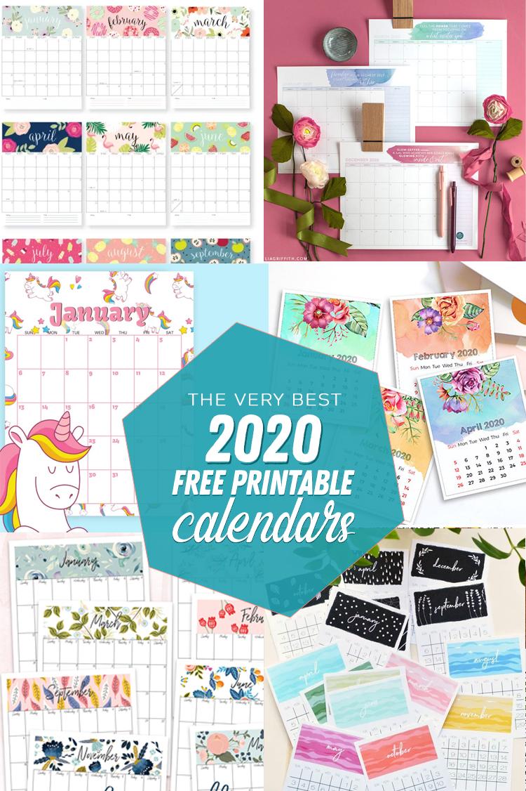 2020 free printable calendars