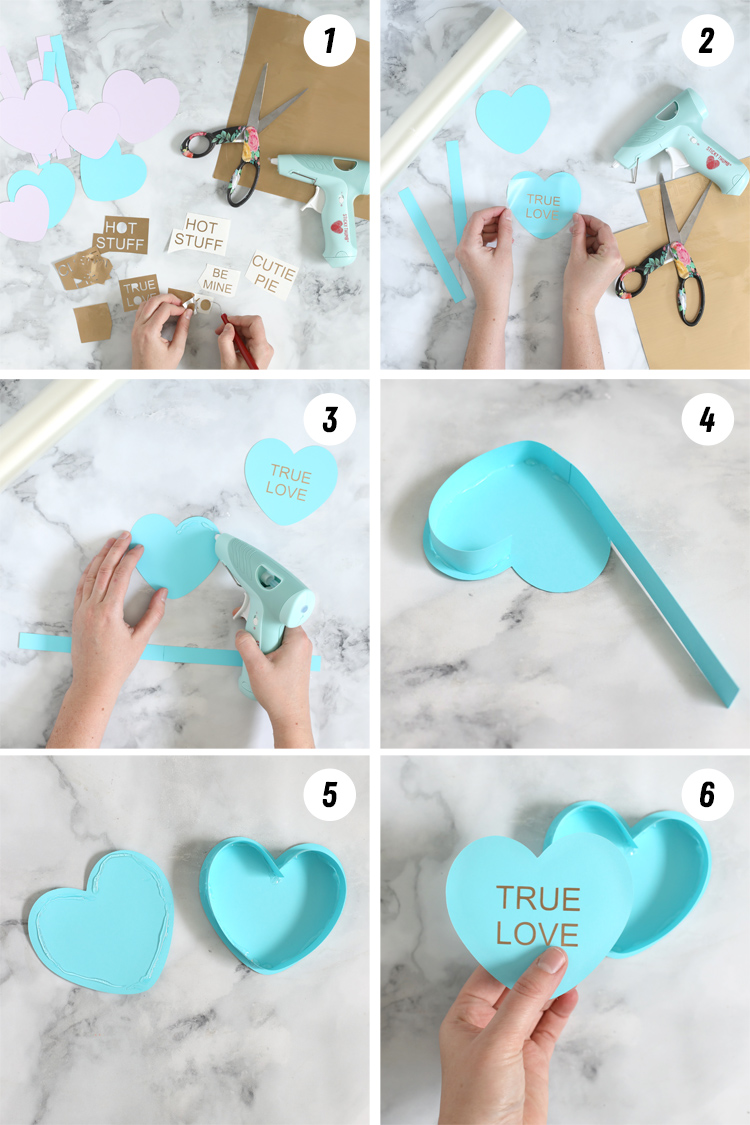 how to make 3d paper hearts