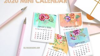 Colorful Mini Calendar