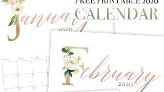 Floral Letter Calendar