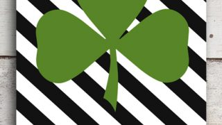 Striped Shamrock Printable