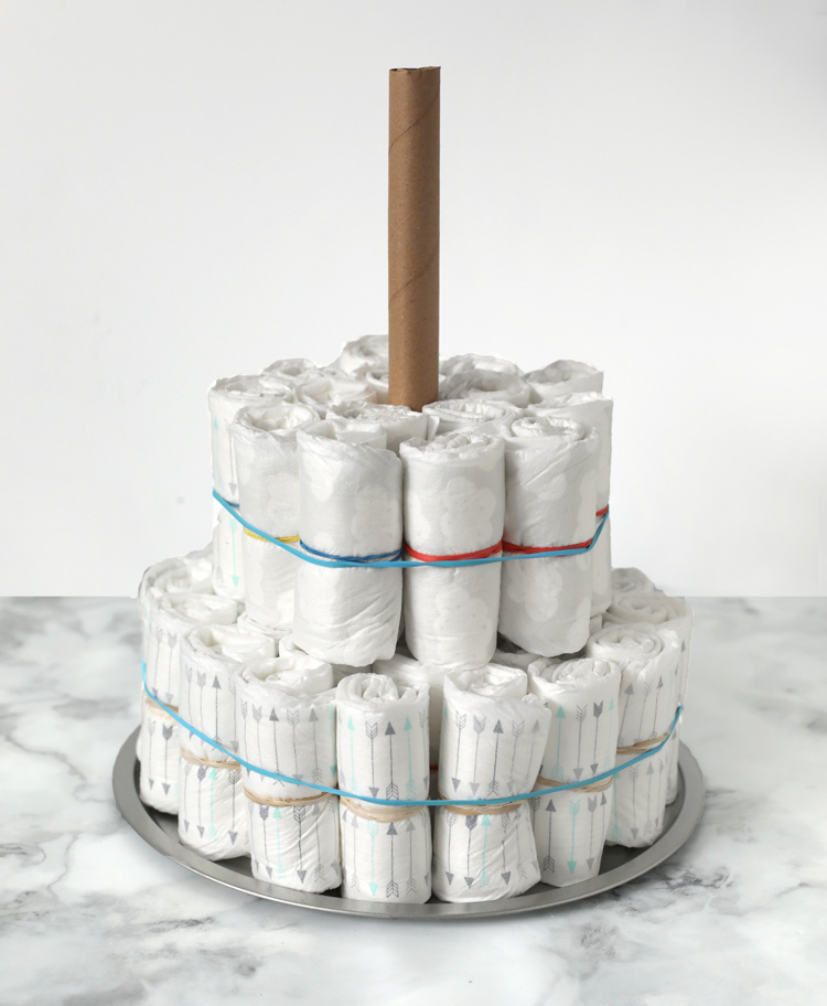 how to make diaper cake