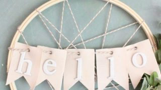 Embroidery Hoop Hellow Wreath