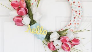 Tulip and Ribbon Wreath