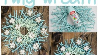Cotton Bloom Twig Wreath
