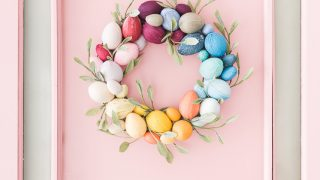 Rainbow Easter Egg Wreath