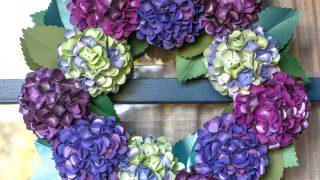 Paper Hydrangea Wreath