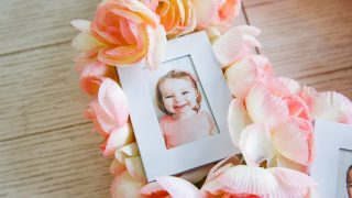 Floral Photo Wreath