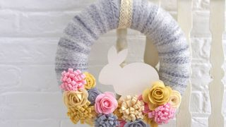 Felt Easter Bunny Wreath