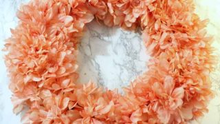 Orange Flower Spring Wreath