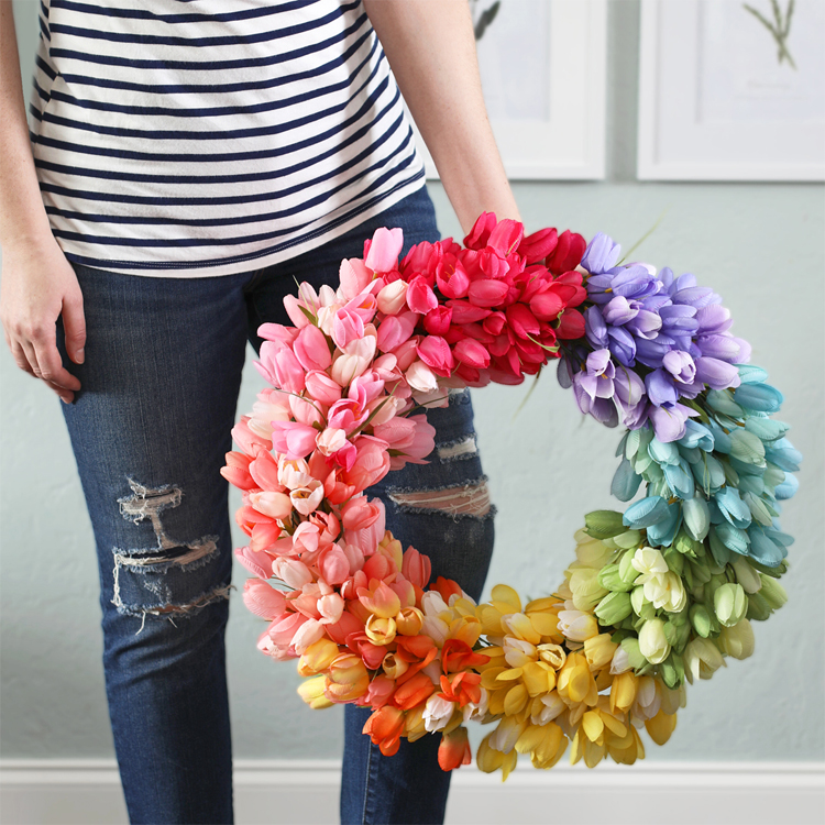 DIY tulip Wreath for Spring