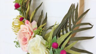 Modern Tropical Spring Wreath