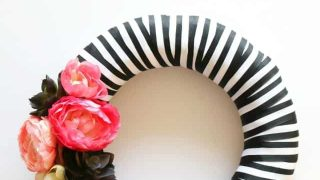 Stripes and Floral Wreath