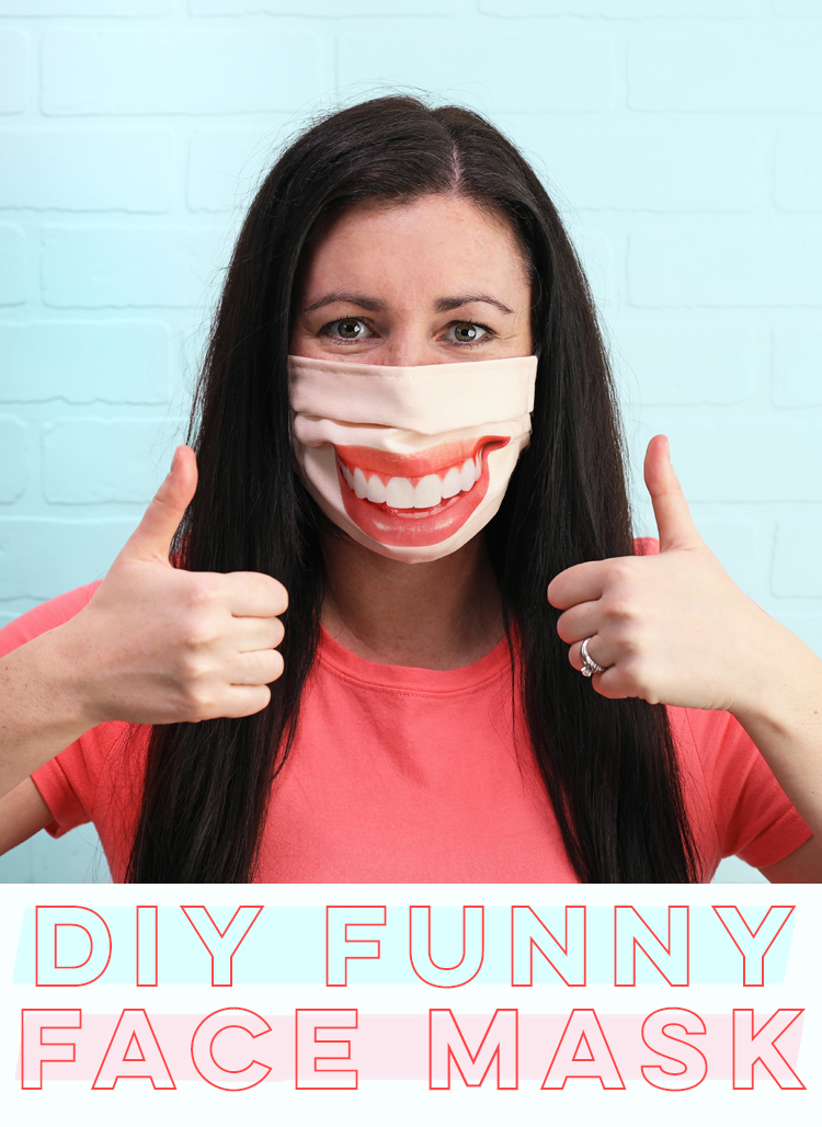 funny fabric face mask DIY