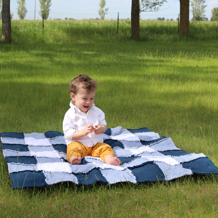 easy baby blanket to sew