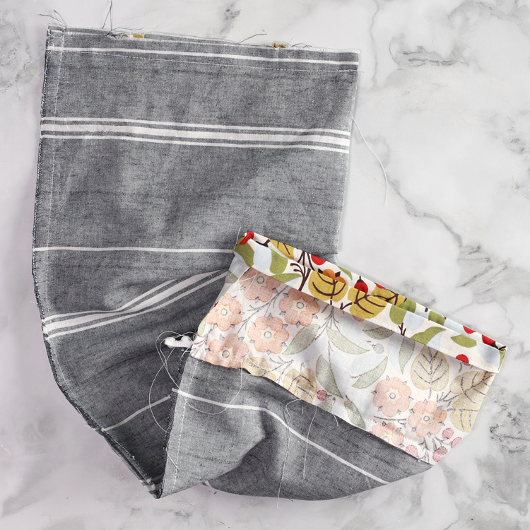 easy sewing project grocery bag holder