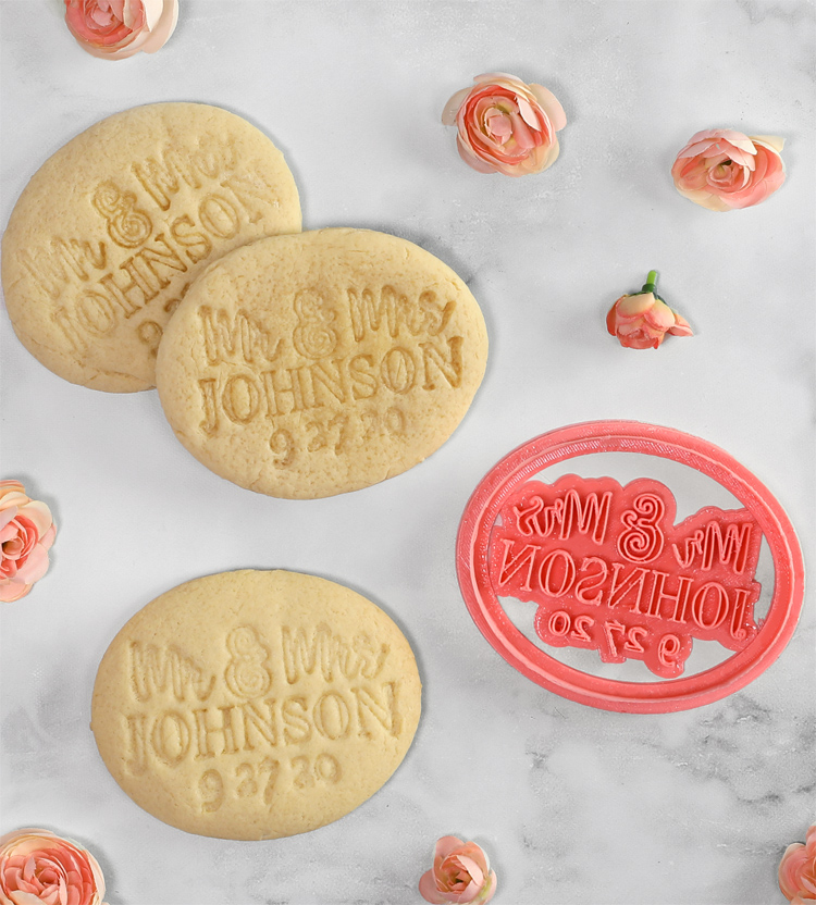 3d printed cookie cutter stamp