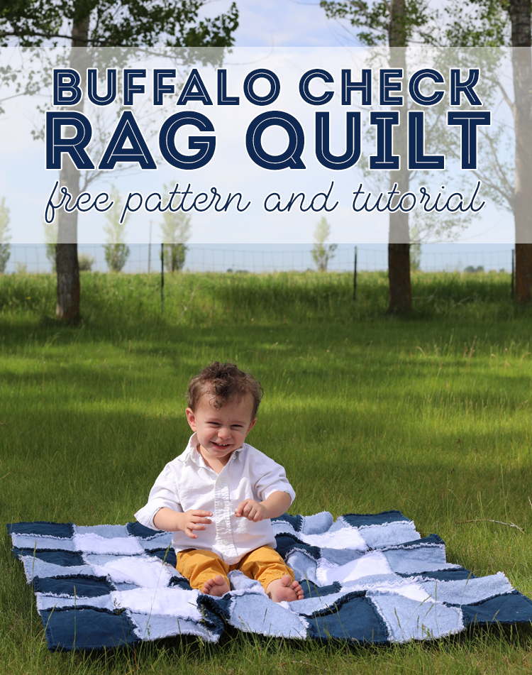 buffalo check rag quilt tutorial