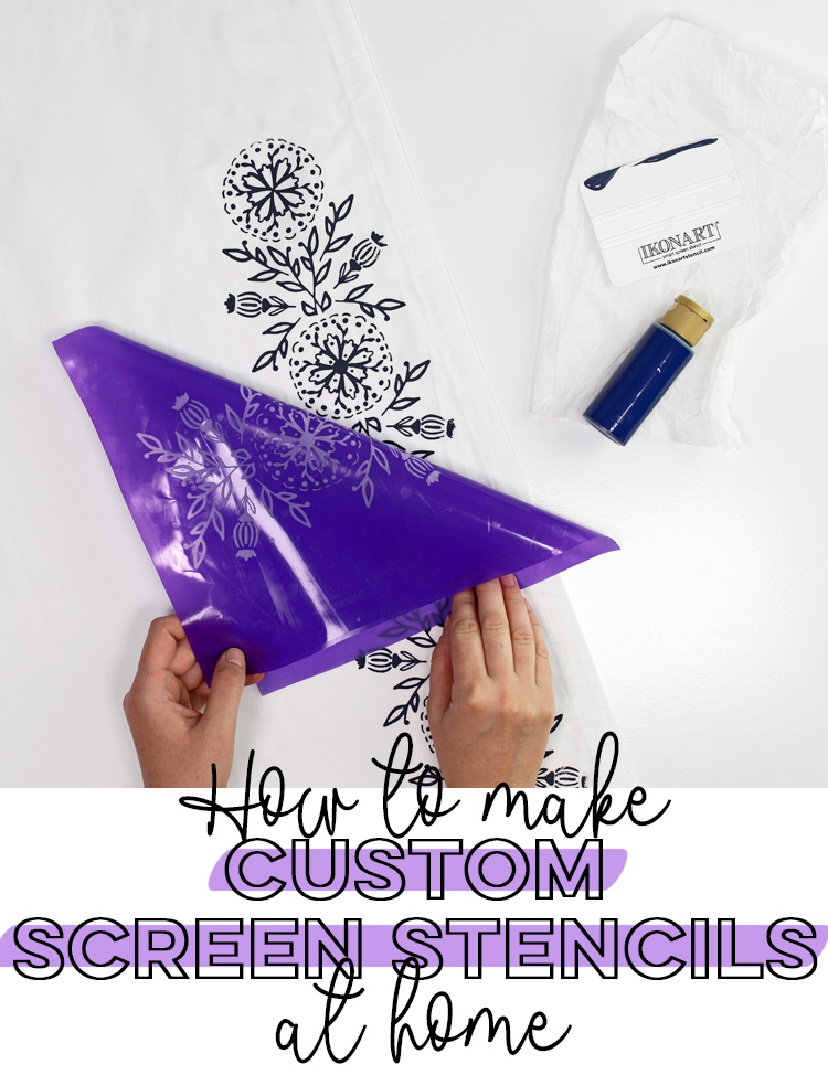 how to make custom creen stencils at home