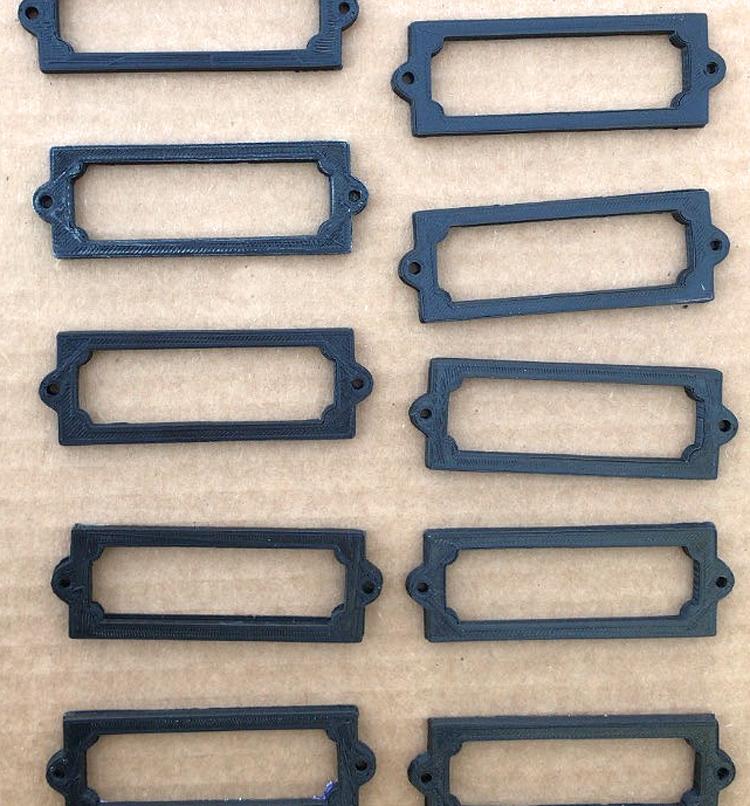 DIY label holders for storage bins